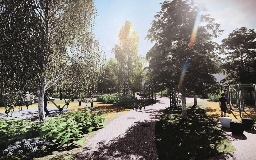 Upprustning av Dalénsparken