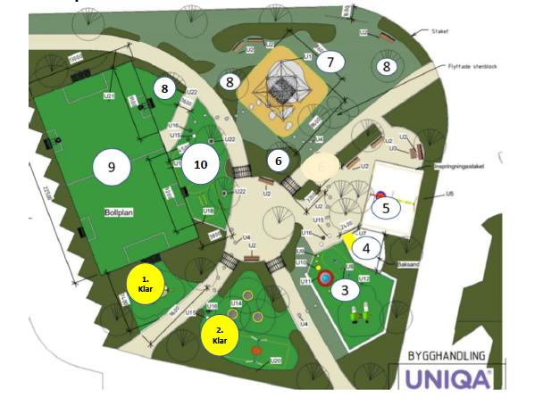 Uniqa återupptar den 19 oktober arbetet i Dalenparken – Lekytor & parkeringsplatser stängs!