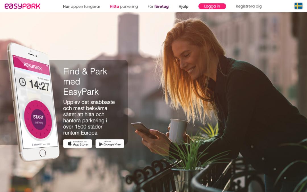 Glöm inte betala din månadsparkerings avgift via EasyPark APPen!