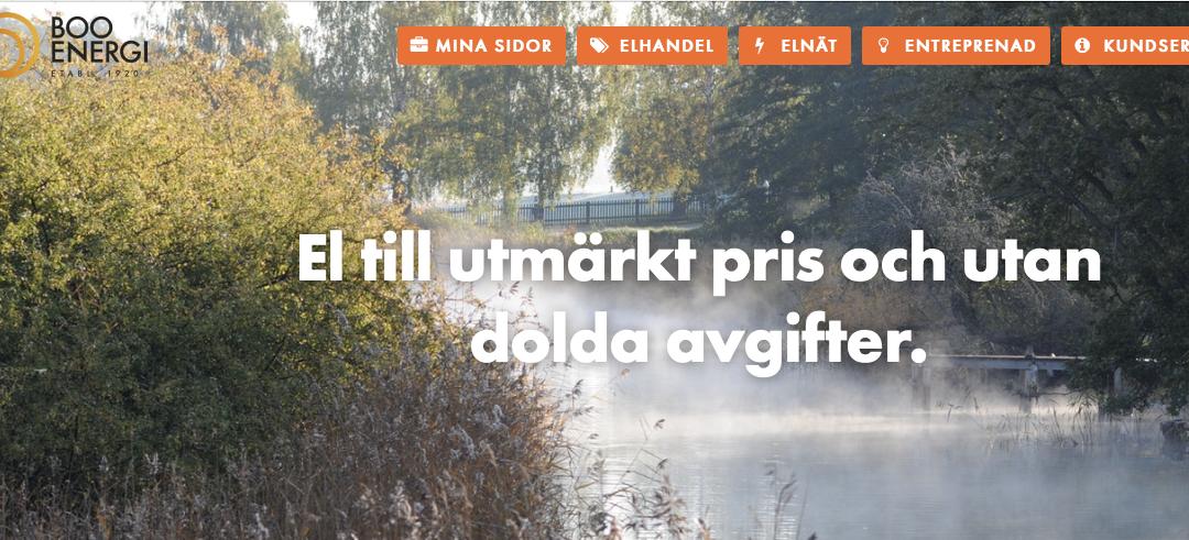 Boo Energi levererar nu el till Järla sjö – Erbjudande till boende och Brf:er